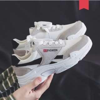 Men's Korean Trend Wild Sports Canvas Sneakers [Black/Red/Black]