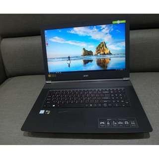 【出售】ACER VN7-792G 17.3吋 四核心 雙硬碟 電競筆電