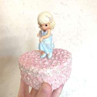 Precious Moments 陶瓷公仔飾物首飾盒 Porcelain Doll Jewelry Box