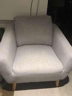 Modern arm chair with cushion