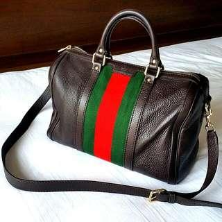 c4e671dd8306 Authentic Gucci Leather Vintage Boston Bag