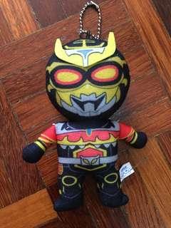 Kamen Masker Rider Superhero Soft Plush Figure Bag Tag