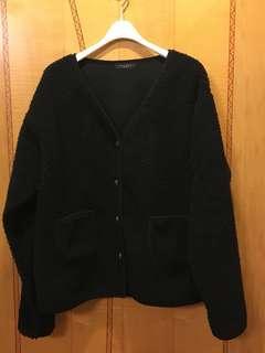 韓國貨 大熱,全新,羊羔毛、海虎毛黑色褸,有袋,Free Size。注意:可以先入數之後順豐到付
