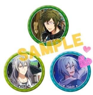 IDOLISH7 bno MAGAZINE! Event Can Badge Set