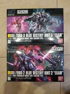 <Bundle> HGUC Blue Destiny Unit 2 + 3