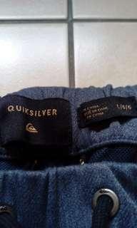 🚚 衝浪品牌 quicksilver 灰藍色運動縮口褲 休閒縮口褲31 32 33 34 Nike 愛迪達 可參考
