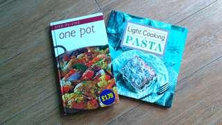 2 Recipe Books: Step-by-Step One Pot & Light Cooking Pasta