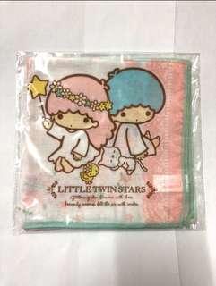 Little Twin Star handkerchief 手巾 2 pcs pack Size。30 x 30cm