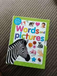First Board Books Words and Pictures