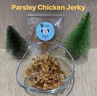 Dehydrated Parsley Chicken Jerky
