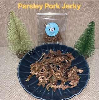 Dehydrated Parsley Pork Jerky