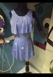 Swimming Suit Dress Stretchable