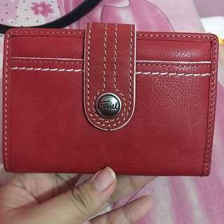Fossil Red Small Wallet