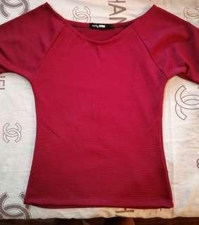 Red three forths top