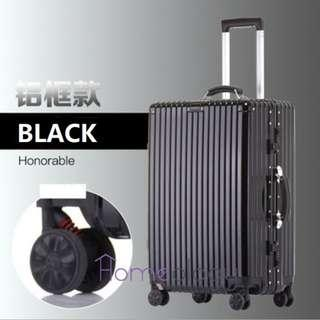 🚚 5 Sizes! Black 20-29 Inch Travel Aluminum Alloy Frame Luggage Bag Suitcase TSA Lock