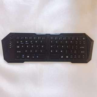 藍牙鍵盤 Bluetooth Wireless Keyboard (可折疊 Foldable 90% New!)