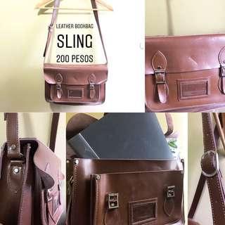 Leather Bookbag/Laptop Sling