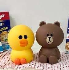 🚚 Brand new LINE figurine brown & sally cereal and milk box