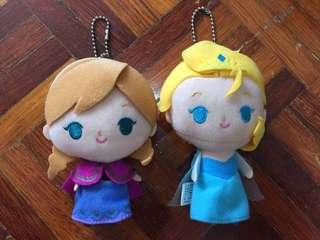 Disney Frozen Elsa & Anna Figure Soft Craft Bag Tag Set