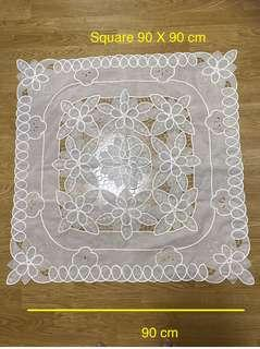 Square Table cloth ( cut out embroidery)