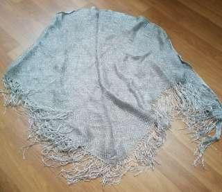 Silver coverall wraps/scarf