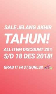 YEAR END SALE!!!