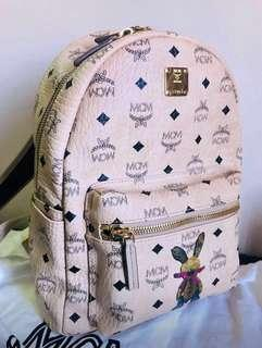 Preloved Authentic MCM Love Rabbit Series Mini Backpack Beige (MWK6AXL07IG001)