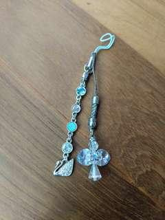 Handphone Swarovski and angel charms [TO BLESS]