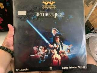 Star Wars Return of the Jedi - laserdisc collectibles