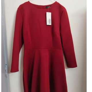 Long Sleeve Dress (Red)