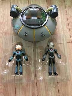 "Rick and Morty Funko 5"" inches plus Rick and Morty Spaceship Rick's Ship"