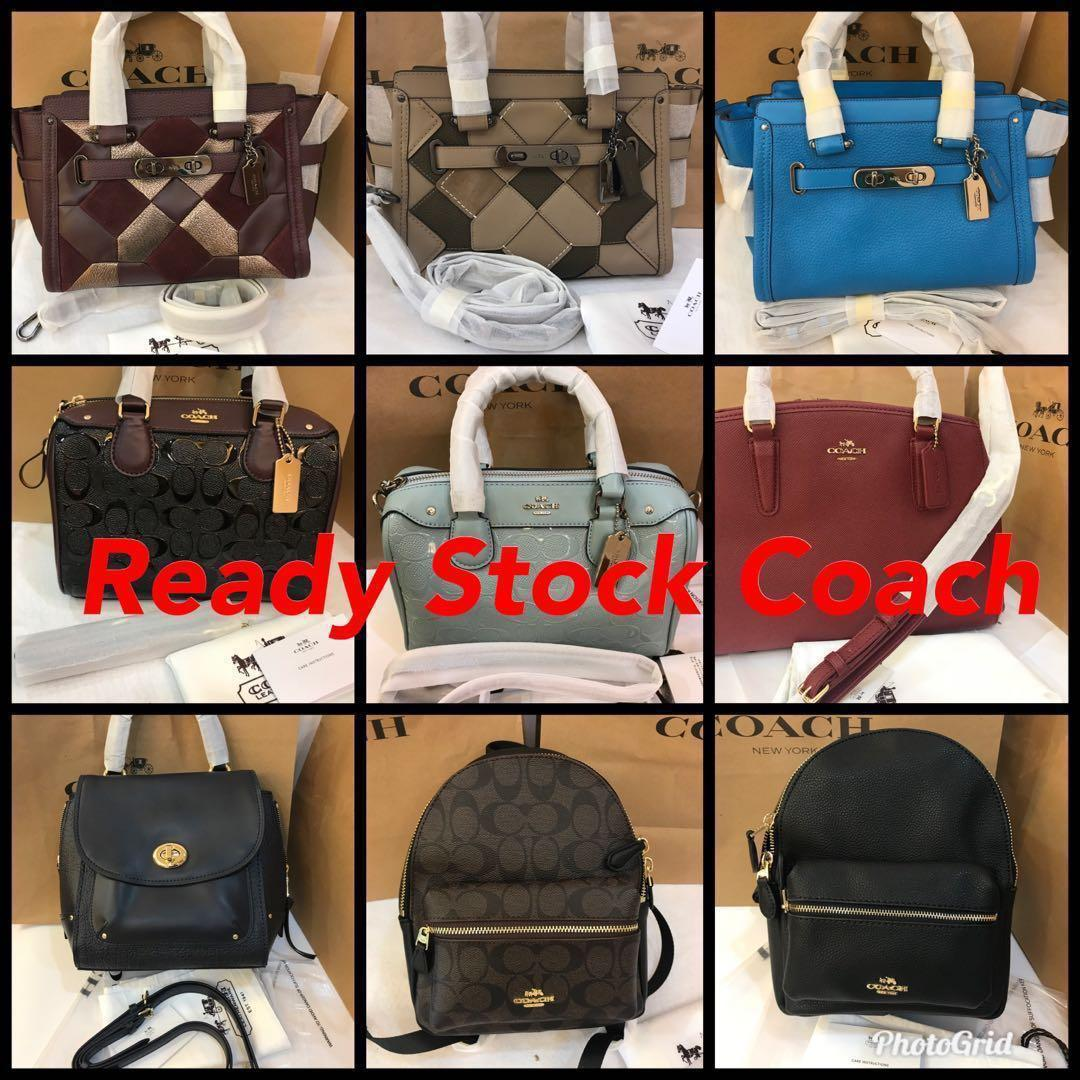 (16/12/18)Authentic Ready Stock Coach men women Handbag MK wallet Furla Sling Bag mar Jacobs crossbody Coach Backpack laptop bag camera bag iPhone totes