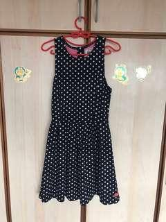 🚚 Free mailing! Authentic SUPERDRY Navy Blue Polka Dot Dress