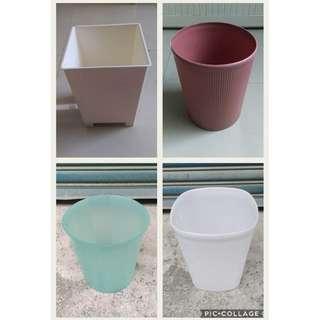 二手無蓋垃圾桶/置物桶/收納桶/圓型垃圾桶/方型垃圾桶/家用垃圾桶/廚房垃圾桶 /書報桶/玩具桶