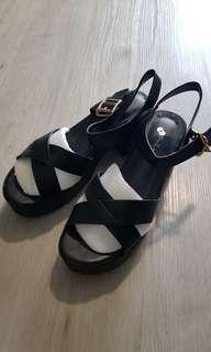 BN Black Chunky Heels