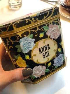 🚚 復古Anna sui 收納盒 鐵盒
