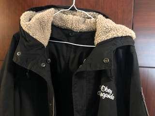 Obey 二件頭 外套,可分開穿,100% new,size M