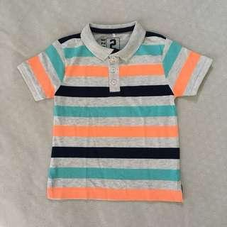 Baby/Toddler Colourful Striped Polo Collared T-shirt for Boys (2 years old)