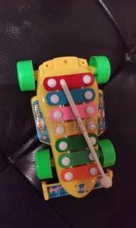 🚚 兒童玩具敲敲敲.鐵琴