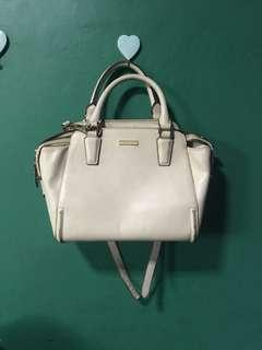 Charles and Keith White Bag Authentic