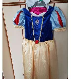 Reversible Wear Kids Snow White and Princess Aurora Dress Costume