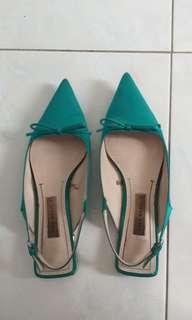 Zara green shoes