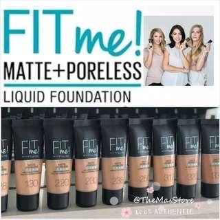 🚚 Maybelline Fit Me Matte and Poreless Foundation (30ml)