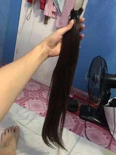 Human hair pang extension