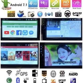 Android v7.1 Car Player - Radio Bluetooth Wifi GPS/Map USB/Card Mirrorlink Playstore