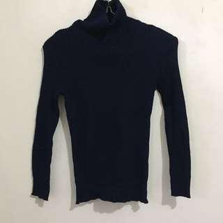 Turtleneck Knit Blue Navy
