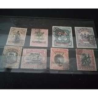 North borneo 1901-1905 High Value stamps rare