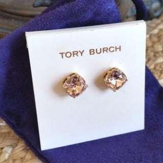 Tory Burch Vintage Rose Gold Swarovski Crystal Stud Earrings (INSTOCK)