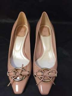 二手正貨 Christian Dior 粉紅低跟鞋