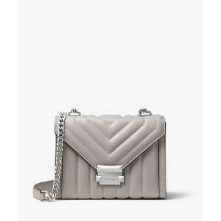 Michael Kors Whitney Small Two-Tone Leather Convertible Shoulder Bag